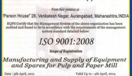 certificate of compliance parason machinery