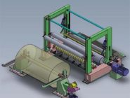 pope reel for paper making machine