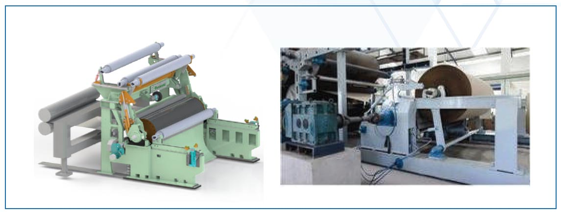 pope reel automation for paper machine