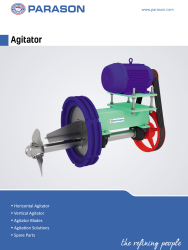 Agitator for pulp paper machine