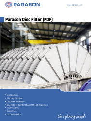 parason disc filter pulping equipment