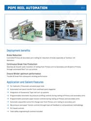 pope reel automation pulp equipment