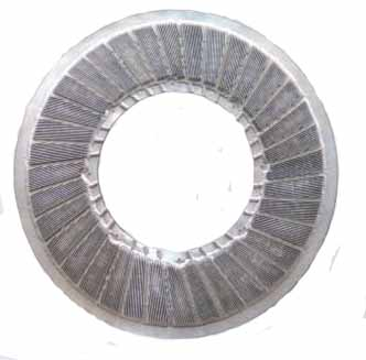 finedge welded bar refiner plate full circle