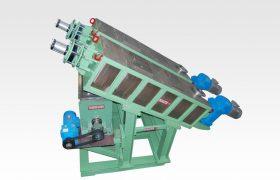 dewatering screw for paper machine