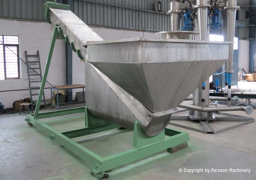 dehydrating screw conveyor paper machinery