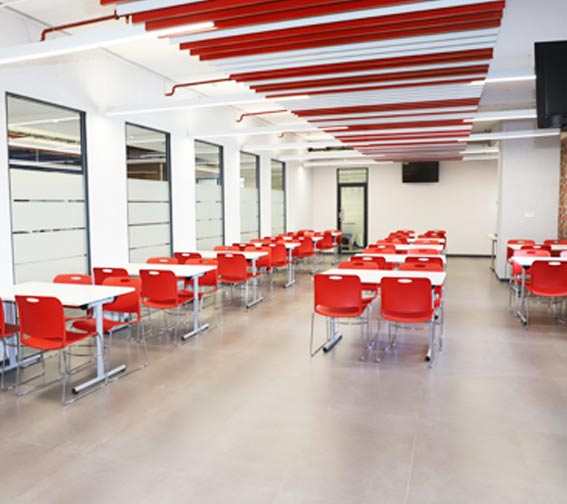 office canteen eating area at parason machinery