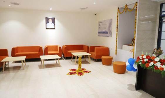 parason machinery corporate office entrance sitting area