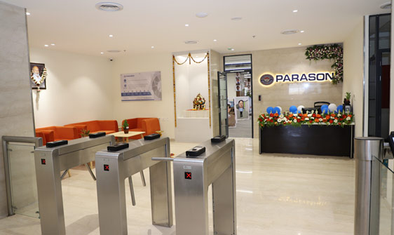parason machinery corporate office entrance