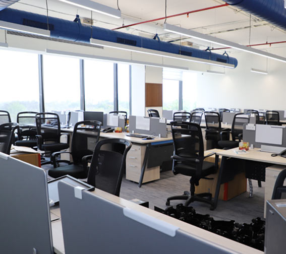 parason office employee working area