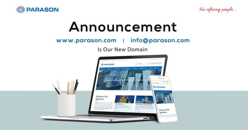 Announcement website name changed to parason.com