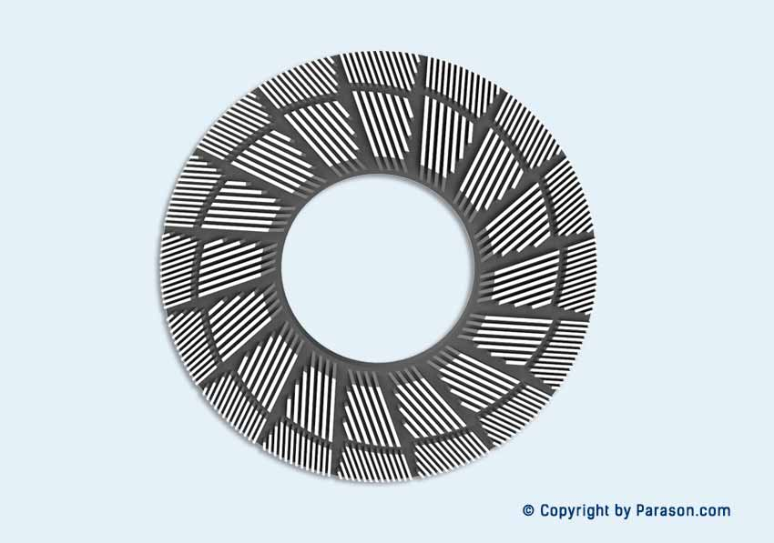 Made In India Variable Rib Design Plates