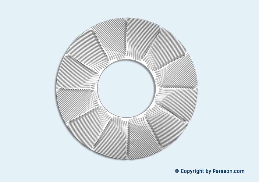 Paper Industry Variable Rib Design Plates