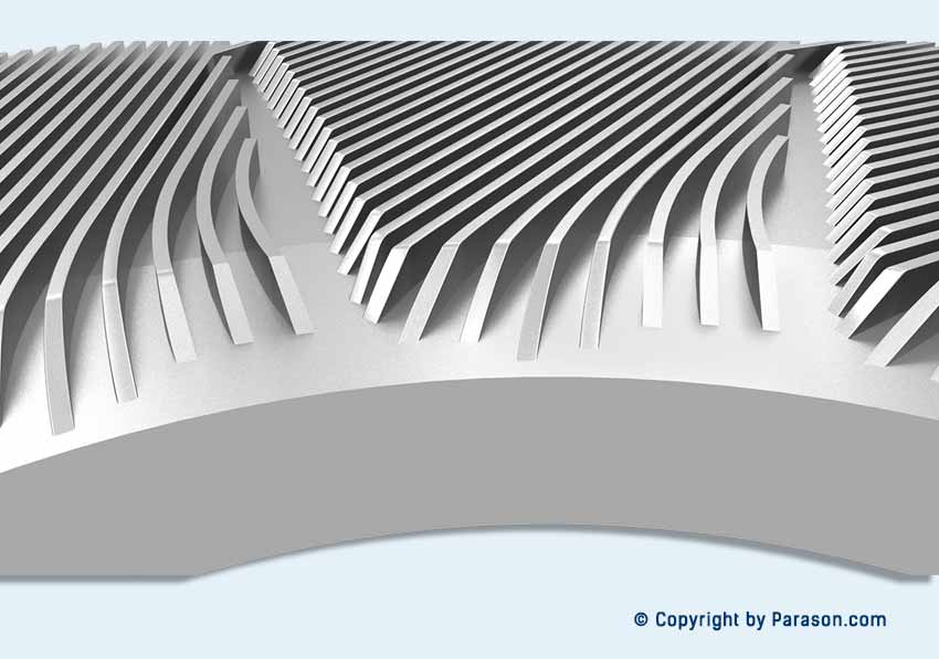 Paper Pulp Inlet Curved Bar Refiner Plates