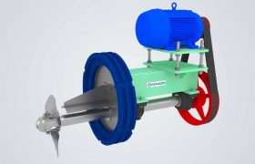 horizontal agitator for paper mill
