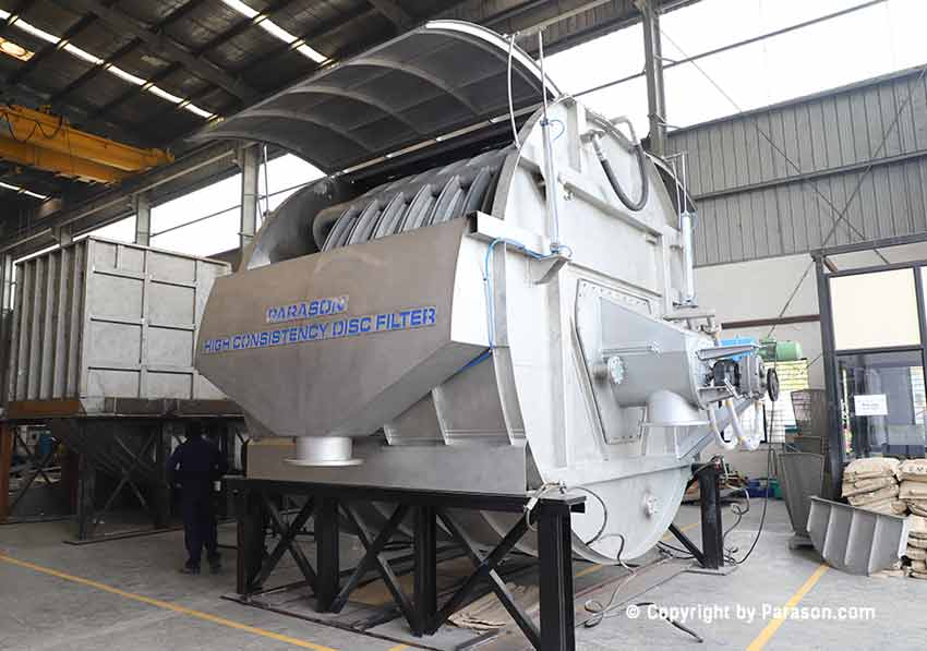 High Consistency Disc Filter for Paper Mill