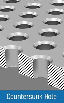 Isometric Countersunk Hole View