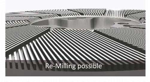 Refiner Plate Re Milling Possible